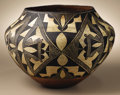 Native American:Pottery and Baskets, Acoma Polychrome Pottery Jar. Circa 1910. Height 9 in. Width 12in.. This classic olla is characterized by its nicely flar...