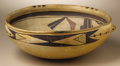Native American:Pottery and Baskets, Hopi Polychrome Pottery Bowl. Circa 1920. Height 4 in. Diameter 91/2 in.. This bowl is characterized by its rounded base,...