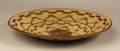 Native American:Pottery and Baskets, Pima Coiled Geometric Tray. Circa 1910. Height 1 1/4 in. Diameter10 in.. This tightly coiled basket is decorated with con...