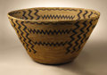 Native American:Pottery and Baskets, Western Mono Coiled Cooking Basket. Circa 1900. Height 8 3/4 in.Diameter 16 3/4 in.. This deep bowl with wide flaring sid...