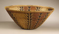 Native American:Pottery and Baskets, Panamint Polychrome Cooking Basket. Circa 1900. Height 7 1/4 in.Diameter 17 1/4 in.. This finely coiled polychrome bowl h...