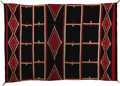Native American:Textiles, Navajo Germantown Moki Blanket. Circa 1890. Length 87 in. Width 60in.. This large, tightly woven Hubbell revival blanke...