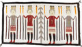 Native American:Textiles, Navajo Yei Rug. Circa 1930. Length 56 1/2 in. Width 80 in.. Thispictorial weaving features a central cornstalk motif fl...