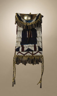 Kiowa Strike-A-Light Case collected from the Cheyenne Chief White Horse Circa 1880 Length 9 1/2 in. overall; Length 6 1/...