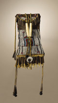 Native American:Beadwork, Kiowa Strike-A-Light Case. Circa 1885. Length 9 3/4 in. overall.Length 6 in. case proper. This typical example is beaded ...(Total: 2 Items)