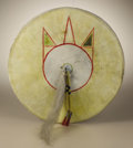 Paintings, Kiowa Model Shield. Circa 1890. Diameter 14 in.. The model shield is made with a rawhide base and a native tanned hide cov... (Total: 1 Item Item)
