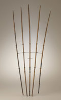 Native American:Weapons, Matching Set of Five Southern Plains Arrows. Circa 1880. Length 271/2 in. the longest. Each arrow is delicately engraved,... (Total:5 Items)