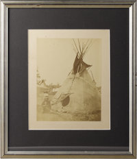 Albumen Photograph of Little Big Mouth Circa 1870 Length 7 1/4 in. Width 5 1/2 in.; as framed Length 13 3/4 in. Width 11...