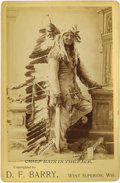 Photographs, Cabinet Card - Studio portrait of the Hunkpapa Chief Rain In the Face. Circa 1885. Length 6 1/2 in. Width 4 1/4 in.. Rain ... (Total: 1 Item Item)