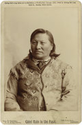 Photographs, Cabinet Card - Studio portrait of the Hunkpapa Sioux Chief Rain In the Face. Circa 1893. Length 6 1/2 in. Width 4 1/4 in.. ... (Total: 1 Item Item)