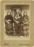 Photographs, Cabinet Size Photo Mounted on Card Stock - Quanah Parker and Wives. Circa 1892. Length 7 3/8 in. Width 5 1/4 in.. In this ... (Total: 1 Item Item)