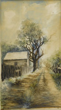 Fine Art - Painting, American:Other , H. CRITES (American). Grand Country Road. Watercolor onpaper. 11 x 6in. (unframed). Signed lower left, titled lower rig...