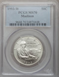 Modern Issues: , 1993-W 50C Bill of Rights Half Dollar MS70 PCGS. PCGS Population (108). NGC Census: (171). Mintage: 173,224. Numismedia Wsl...