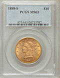 Liberty Eagles: , 1888-S $10 MS63 PCGS. PCGS Population (120/3). NGC Census: (74/6).Mintage: 648,700. Numismedia Wsl. Price for problem free...
