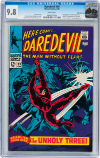 Daredevil #39 Rocky Mountain pedigree (Marvel, 1968) CGC NM/MT 9.8 White pages