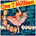 """Movie Posters:Comedy, One in a Million (20th Century Fox, 1937). Six Sheet (79"""" X80.5"""").. ..."""