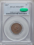 1867 1C MS63 Brown PCGS. CAC. PCGS Population: (76/95). NGC Census: (64/100). CDN: $350 Whsle. Bid for problem-free NGC/...