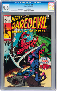 Daredevil #59 (Marvel, 1969) CGC NM/MT 9.8 White pages
