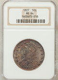 Bust Half Dollars: , 1827 50C Square Base 2 MS64 NGC. NGC Census: (197/274). PCGSPopulation (82/20). Mintage: 5,493,400. Numismedia Wsl. Price ...
