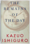 Books:Fiction, Kazuo Ishiguro. SIGNED. The Remains of the Day. Knopf, 1989.First American edition, first printing. Signed by...