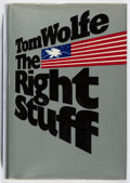 Books:Fiction, Tom Wolfe. INSCRIBED BY CHUCK YEAGER. The Right Stuff. FSG,1979. First edition, first printing. Signed and inscri...