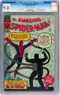 Silver Age (1956-1969):Superhero, The Amazing Spider-Man #3 (Marvel, 1963) CGC VF/NM 9.0 Off-white towhite pages....
