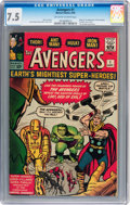 Silver Age (1956-1969):Superhero, The Avengers #1 (Marvel, 1963) CGC VF- 7.5 Off-white to whitepages....