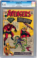 Silver Age (1956-1969):Superhero, The Avengers #2 (Marvel, 1963) CGC NM 9.4 White pages...