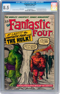 Silver Age (1956-1969):Superhero, Fantastic Four #12 (Marvel, 1963) CGC VF+ 8.5 Off-white to white pages....