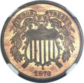 Proof Two Cent Pieces, 1873 2C Closed 3 PR65 Red and Brown NGC....