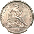 Seated Half Dollars, 1851 50C MS64 NGC....