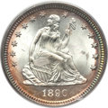 Seated Quarters, 1890 25C MS66 PCGS....