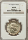Commemorative Silver: , 1927 50C Vermont MS66 NGC NGC Census: (198/19). PCGS Population(290/21). Mintage: 28,142. Numismedia Wsl. Price for proble...