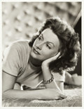 """Movie Posters:Photo, Greta Garbo by Clarence Bull (MGM, 1941). Portrait Photo (10"""" X13"""").. ..."""