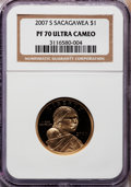 Proof Sacagawea Dollars, 2007-S $1 Sacagawea PR70 Ultra Cameo NGC. NGC Census: (1745). PCGSPopulation (280). Numismedia Wsl. Price for problem fre...