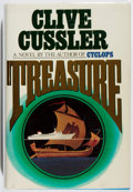 Books:Mystery & Detective Fiction, Clive Cussler. SIGNED. Treasure. Simon and Schuster, 1988.First edition, first printing. Signed by the author...