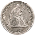 Seated Quarters, 1842-O 25C Small Date VF35 PCGS. CAC....