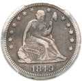 Seated Quarters, 1849-O 25C VF30 PCGS. CAC....