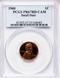 1960 1C Small Date PR67 Cameo PCGS. PCGS Population (138/33). NGC Census: (55/58). Numismedia Wsl. Price for problem fre...