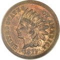 Proof Indian Cents, 1877 1C PR63 Red and Brown PCGS....