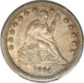 Seated Quarters, 1864-S 25C XF40 PCGS....