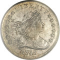 Early Dollars, 1798 $1 Large Eagle, Pointed 9 AU55 PCGS Secure. B-26, BB-114,R.5....