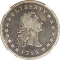 Early Dollars, 1795 $1 Flowing Hair, Three Leaves -- Improperly Cleaned -- NGCDetails. VF. B-7, BB-18, R.3....