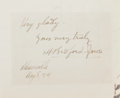 Autographs:Authors, Henry Bedford-Jones (1887-1949, Canadian Writer). ClippedSignature. Very good....