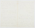 Autographs:Authors, Oliver Wendell Holmes, Sr. (1809-1894, American Writer). Autograph Letter Signed. Near fine....