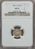 Seated Half Dimes: , 1841-O H10C AU55 NGC. NGC Census: (9/21). PCGS Population (6/15).Mintage: 815,000. Numismedia Wsl. Price for problem free ...