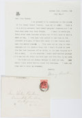 Autographs:Authors, Mary Austin (1868-1934, American Writer). Typed Letter Signed. Verygood....