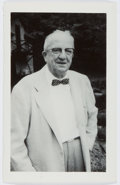 Autographs:Authors, Thornton Burgess (1874-1965, American Children's Author). SmallSigned Photo. Burgess has signed on the verso. Near fine....
