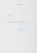 Autographs:Authors, L. Ron Hubbard. (1911-1986, American Writer and Creator ofScientology). Typed Letter Signed. Very good....