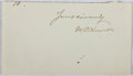Autographs:Authors, W. D. Howells (1837-1920, American Writer). Clipped Signature. Very good....